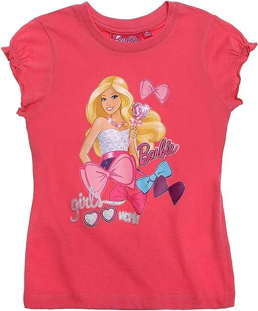 Barbie Chicas Camiseta manga corta - fucsia - 92: Amazon.es: Ropa y accesorios