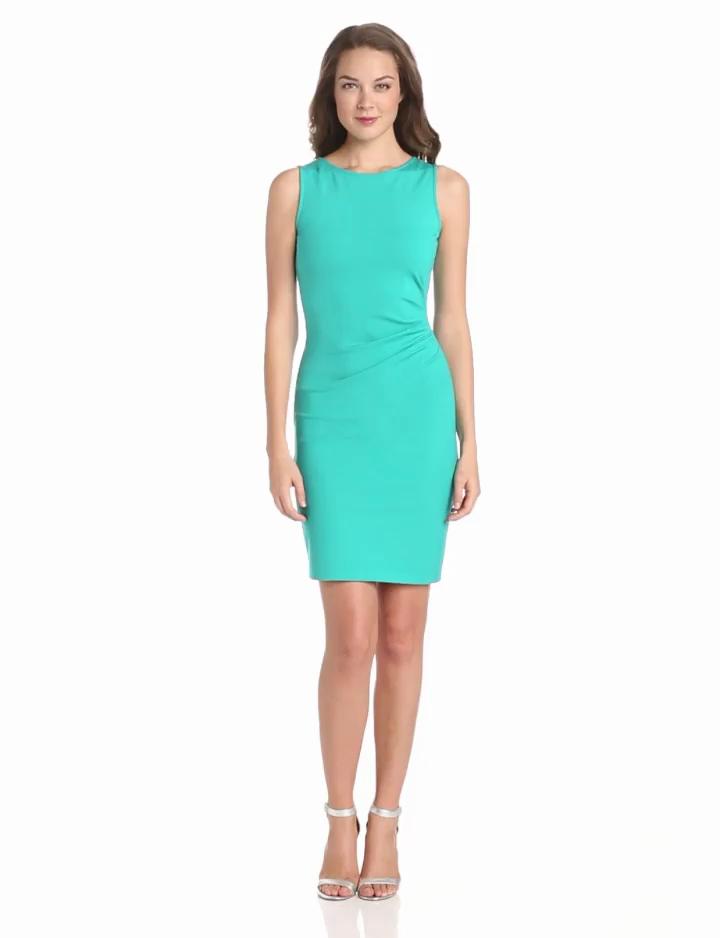 Kenneth Cole New York Women's Hilary Dress, Patina Green, 12