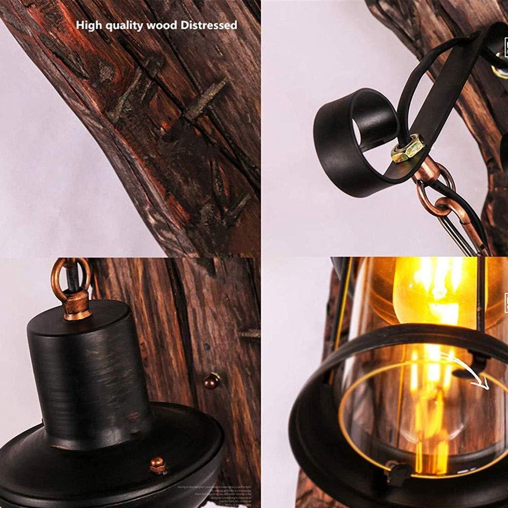 Vintage Schmiedeeisen Wandlampe Segeln Holz Wand Industrie Retro Indoor und Outdoor Home Style alte Wandlampe Energieklasse A ++ ohne Gl/ühbirne