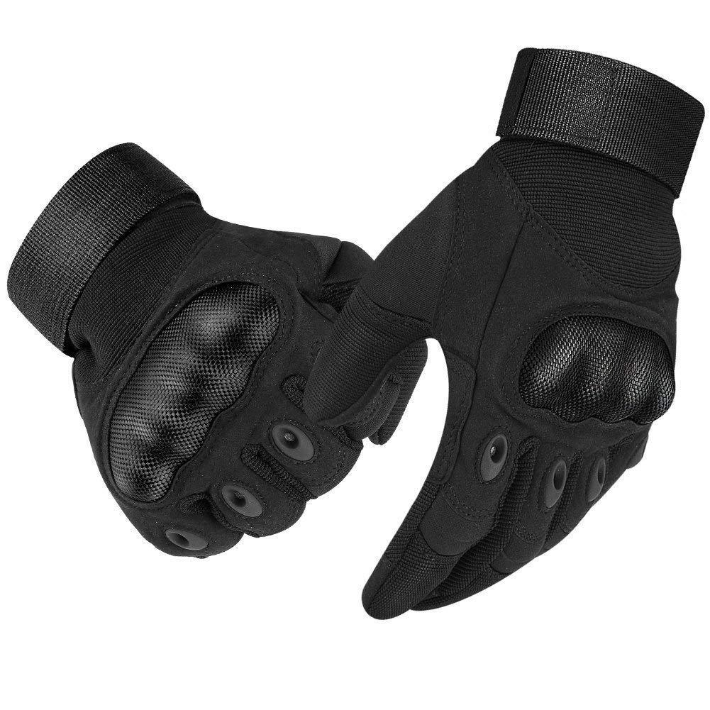 adatti per touch screen sci airsoft e uso militare Lucky-all star equitazione Paio di guanti tecnici in fibra di carbonio adatti per moto