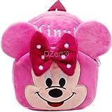 DZert Velvet Cute Pink Teddy Soft Toy Backpack for Kids