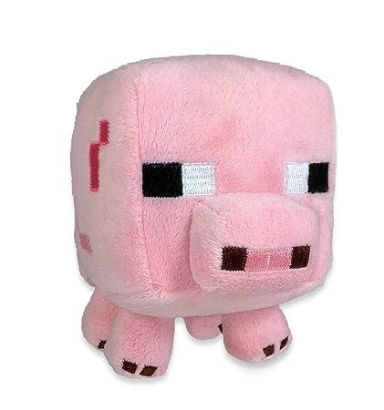 Amazon Com Minecraft Baby Pig 7 Plush Toys Games