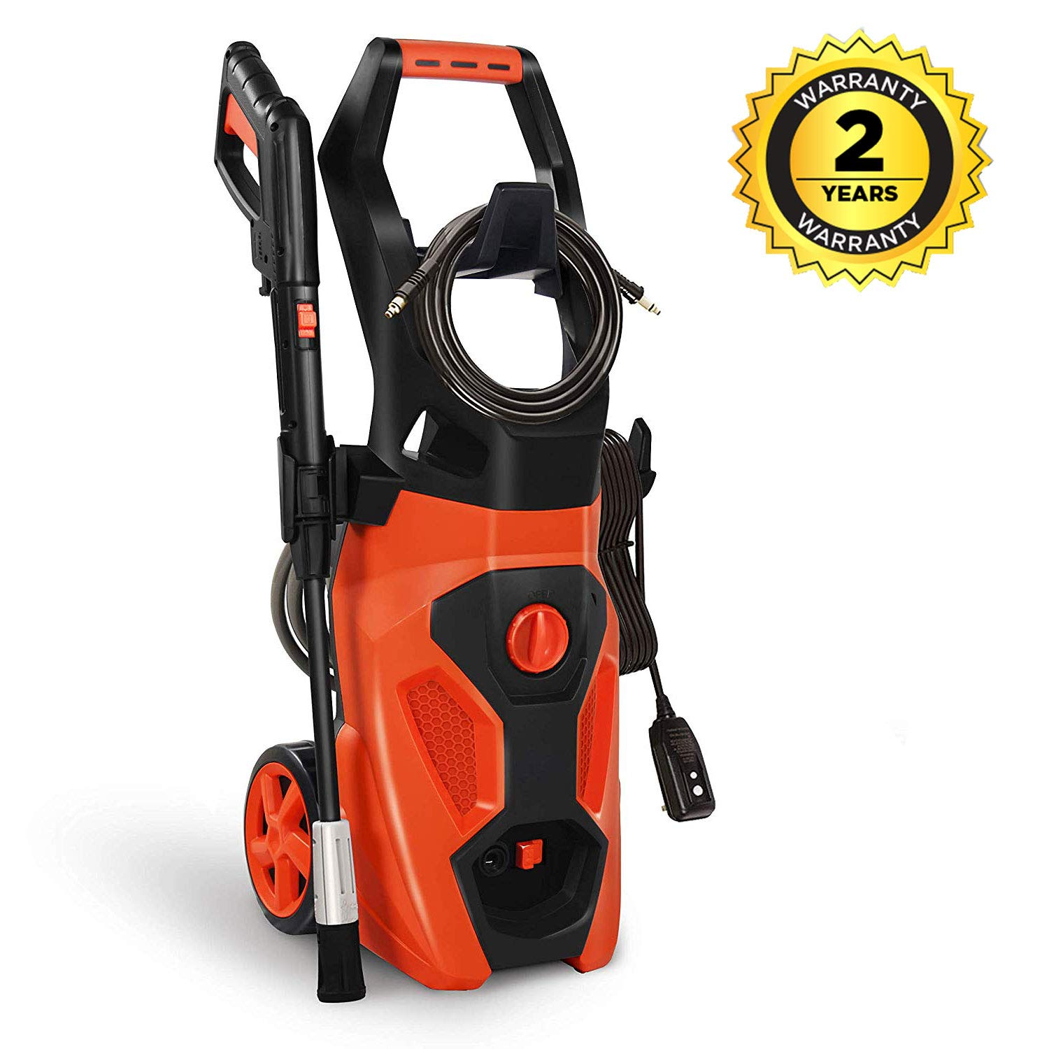 Cozylifeunion Electric Pressure Washer, 2100 PSI 1.8 GPM Car Power High Pressure Cleaner Machine with Spray Gun, Spray Brush, Adjustable Nozzles and 26ft High Pressure Hose