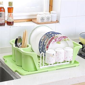 Muebles de cocina Multifunción de plástico de una sola capa de drenaje Bowl Cocina de palillos