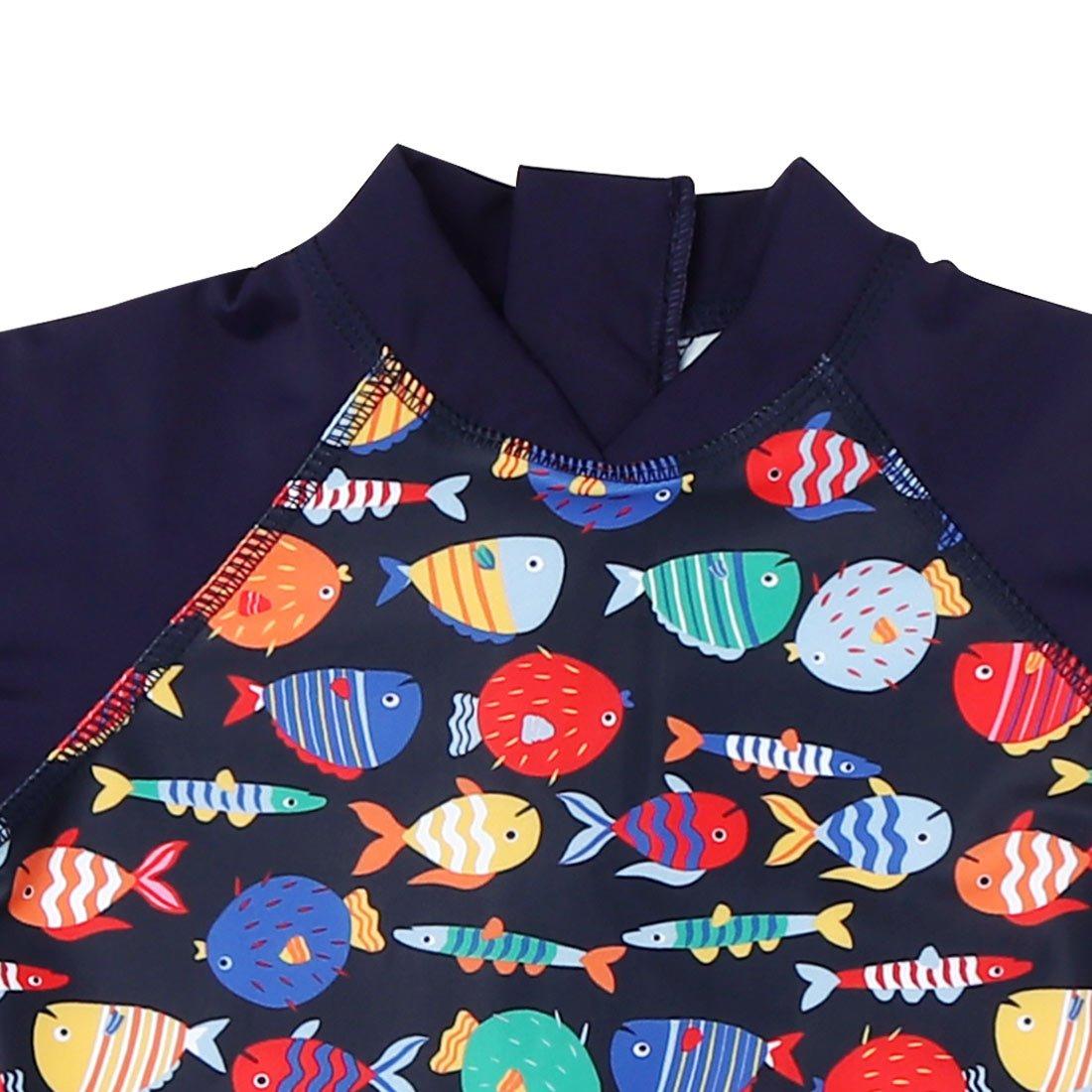 Aivtalk Baby Boys Rash Guard Swimsuit Sun Protection 3//4 Sleeve One Piece Swimwear