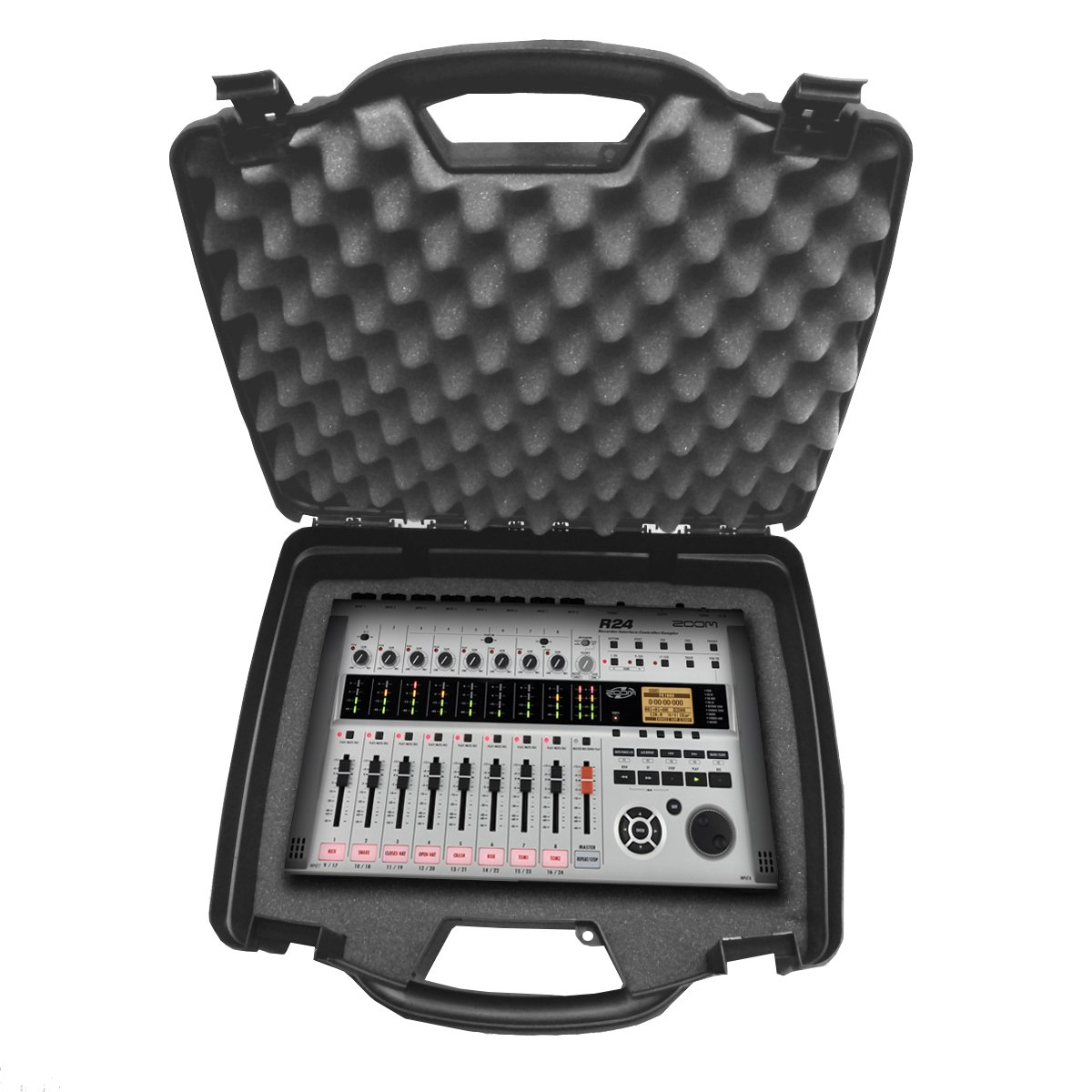 STUDIOCASE Portable MultiTrack Recorder Controller and Digital Stereo Interface Case works for- ZOOM R16 , R8 , R24 , TAC-2 , Tac-2R , MRS-8 and More Dis-2439