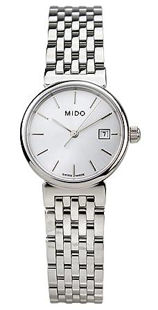 Amazon.com: Mido M21304131 Dorada Ladies Watch - Grey Dial Quartz: Watches