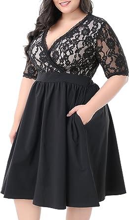 Nemidor Womens Deep V Neck Sleeveless Vintage Plus Size Bridesmaid Formal Maxi Dress