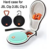 Hard Case Travel Carrying Storage Bag for JBL Clip 2/JBL Clip 3 Wireless Bluetooth Portable Speaker. Fits USB Cable…