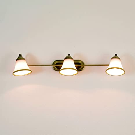 Exclusive 3 Piece Bathroom Lamp 3x E14 In Bronze Look Ip20 Wall Lamp Art Nouveau Bathroom Wall Lamp Mirror Lamp Lighting Amazon Co Uk Garden Outdoors