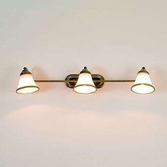 Hervorragend Exklusive 3er Badleuchte 3x E14 in Bronzeoptik IP20 Wandlampe UW48