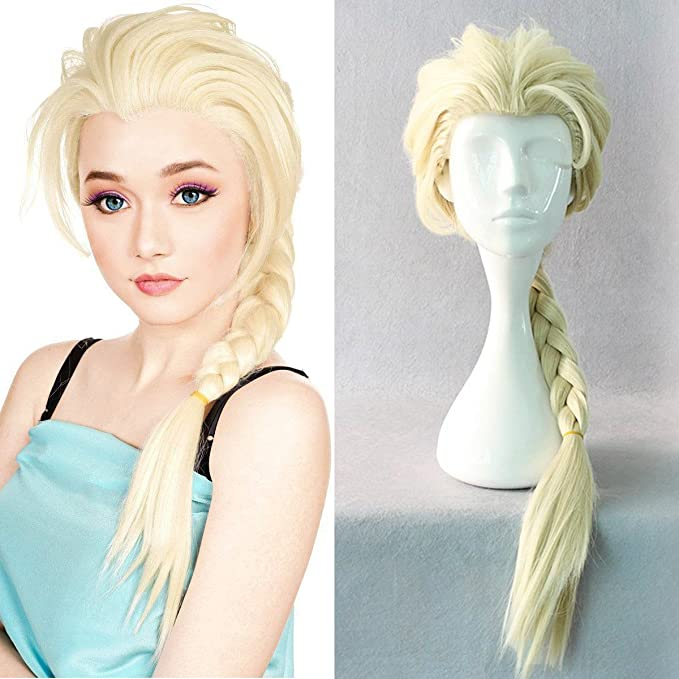 Disney Frozen 2 Elsa Child Blonde Wig Licensed Costume Accessory 7ELAza1