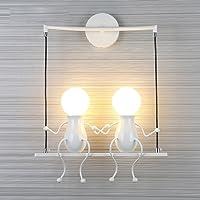 FSTH Creativo Lámparas de Pared Simple Fashion Doll