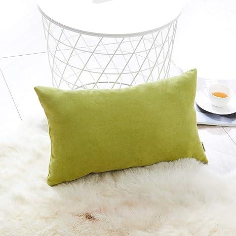 Topfinel juego 1 Fundas cojines sofas de Algodón Lino duradero Almohadas Decorativa de color sólido Para Sala de Estar, sofás, camas, sillas 30x50cm ...