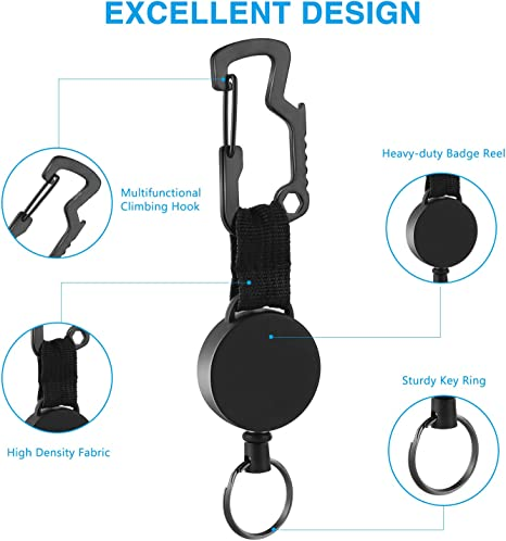 Naiyafly Tool Anti-Perso Invisinono Acciaio Chiaville Statticolto Clip Buckle Hanging Extreme Duty Key Ring Holder