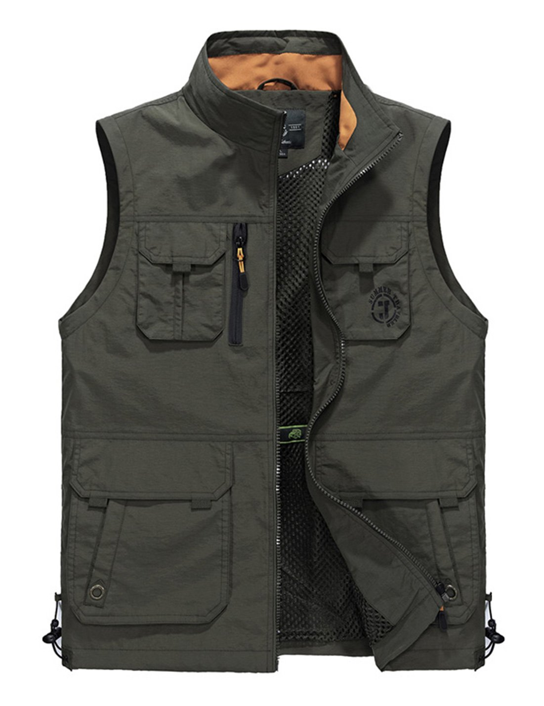 Gihuo Men's Utility Outdoor Multi Pockets Fishing Photo Journalist Sports Vest (Large, Style2-Army Green) by Gihuo