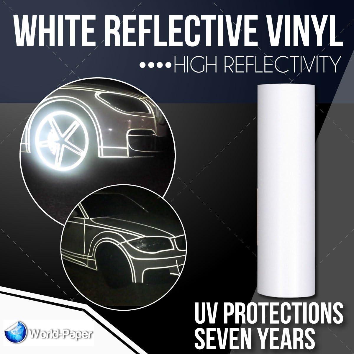Vinilo blanco vinilo reflectante Sign suministros señal alta reflectividad 24