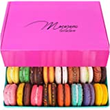 Leilalove Macarons - Mademoiselle de Paris Collections of 15 Flavors - Macarons are packed individually for maximum freshness/damage prevention BOX MAY VARY IN COLOR
