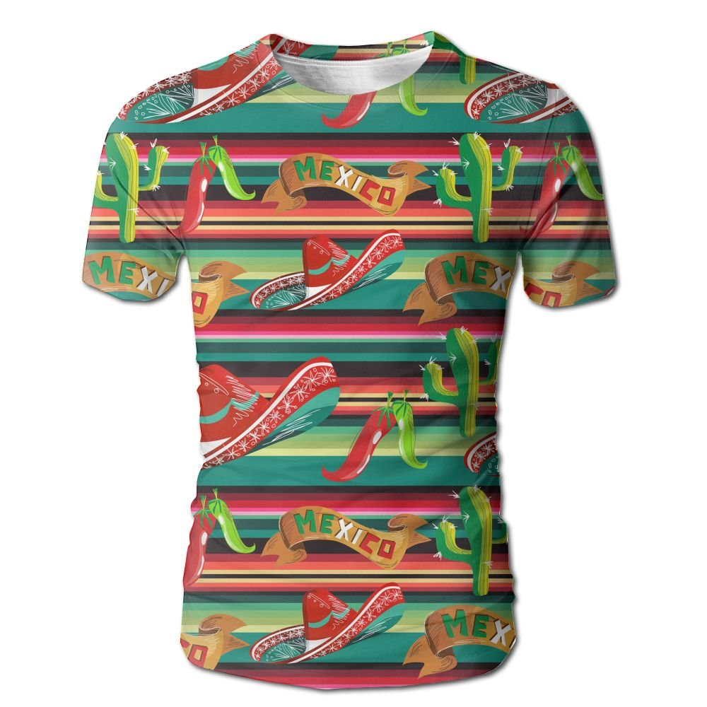 XIA WUEY Mexican Cactus MenCute Baseball Tshirt Graphic Tees Tops For Workout by XIA WUEY