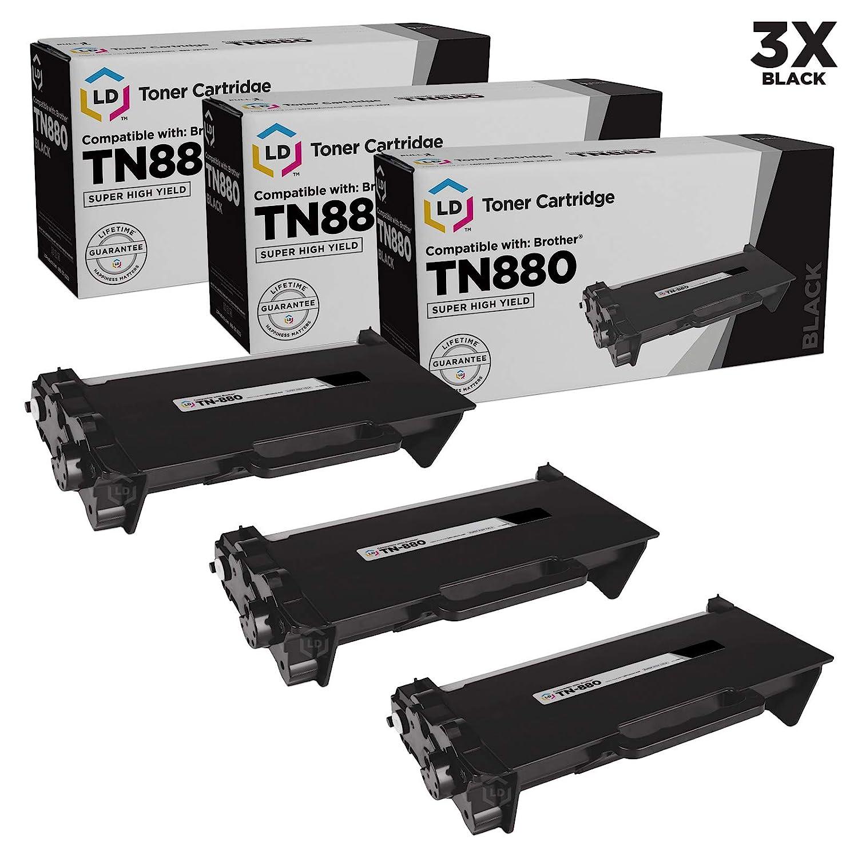 3Pk Black TN880 Toner Cartridge For Brother TN850 HL-L6200DW MFC-L6700DW DR820