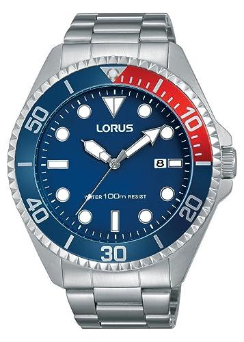 Lorus Watches Reloj Unisex de Analogico con Correa en Chapado en Acero Inoxidable RH941GX9: Amazon.es: Relojes