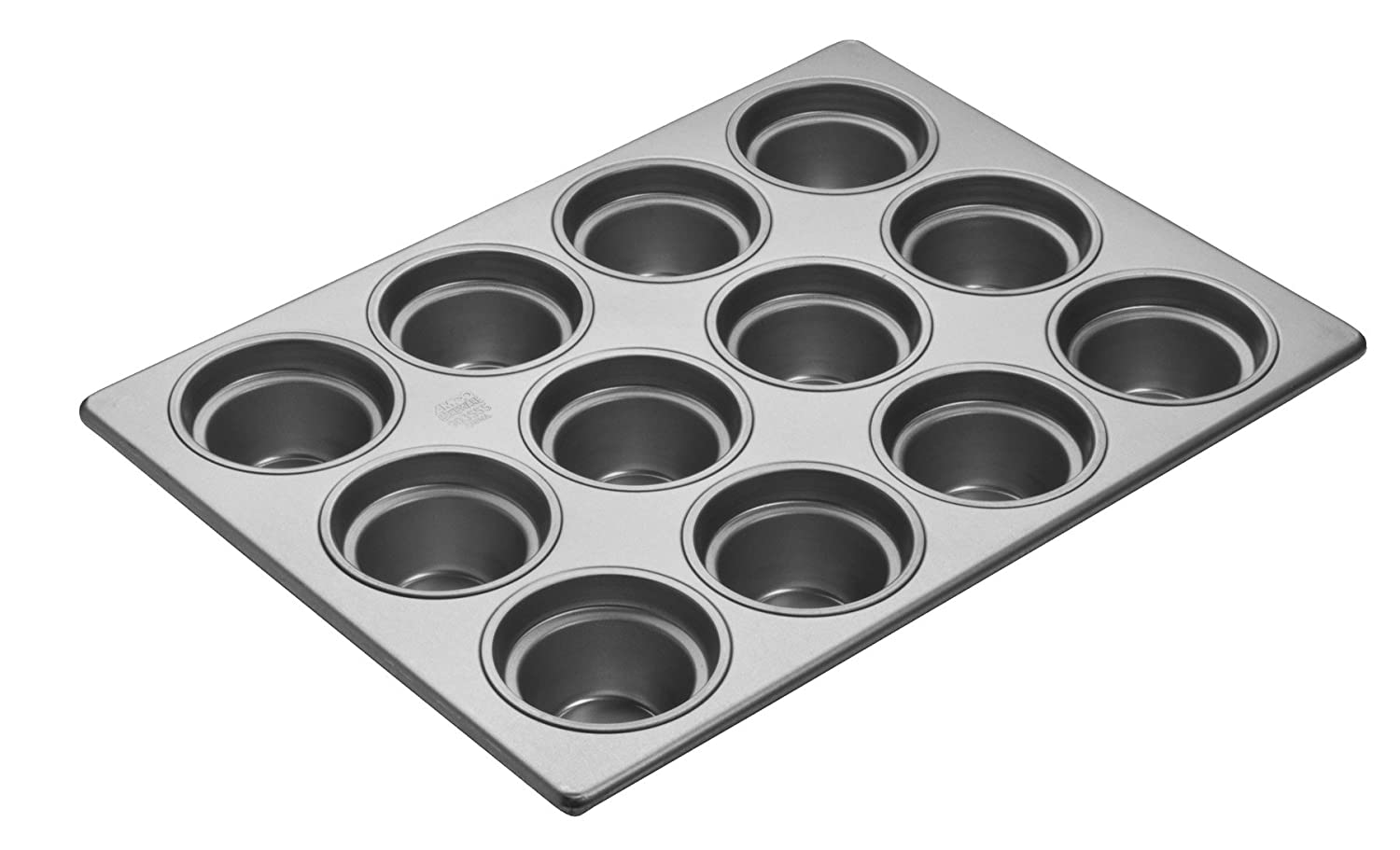 Focus Foodservice Commercial Bakeware 12 Count 3-1/2-Inch Large Crown Muffin Pan