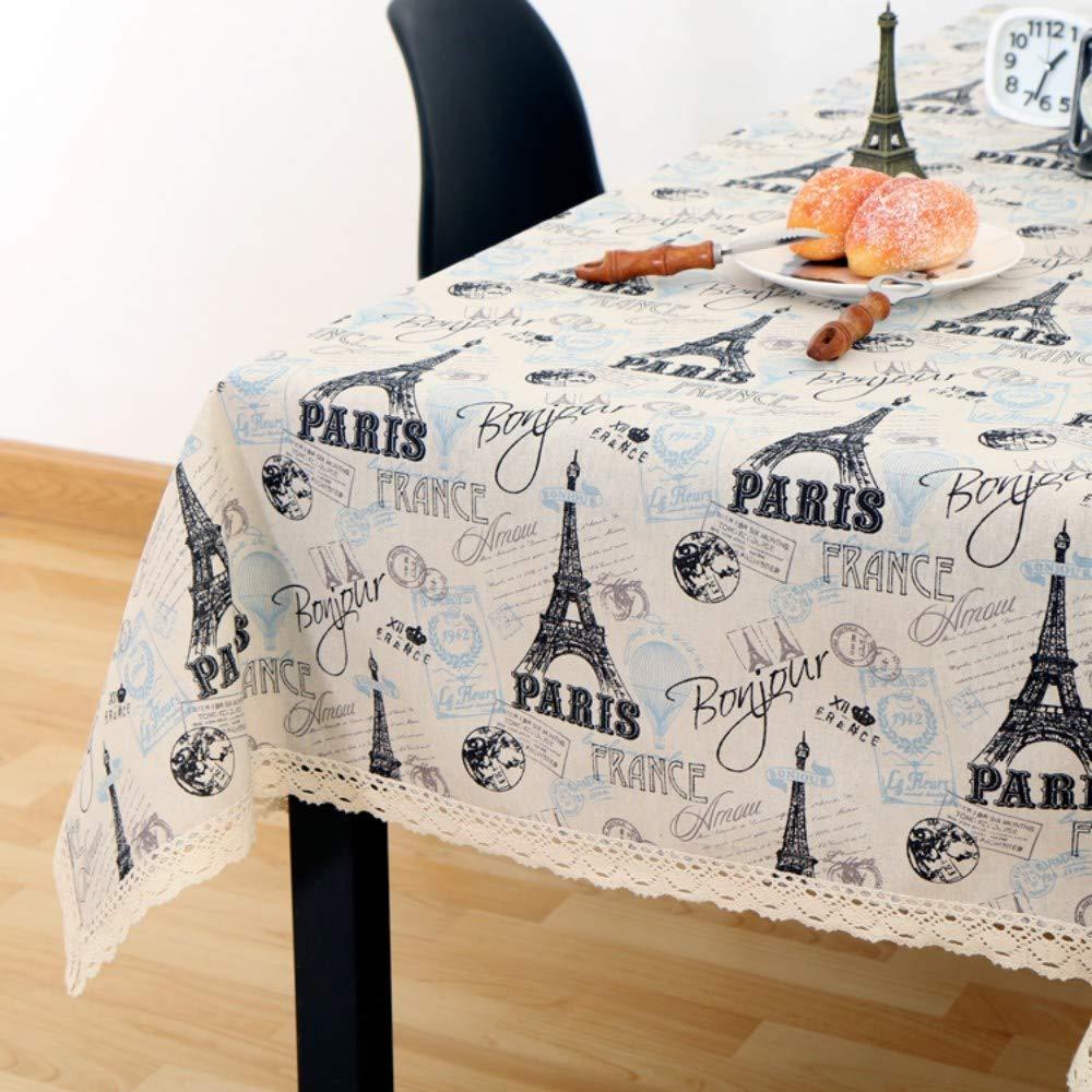 FuJia Nappes Papier Journal rétro Coton Lin Nappe Petit Tissu Frais Photo Fond Tissu Nappe Table Basse Nappe Nappe, 110 * 170cm