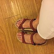 Amazon.com: Sandalias de piñón dorado para señal: cómodo ...