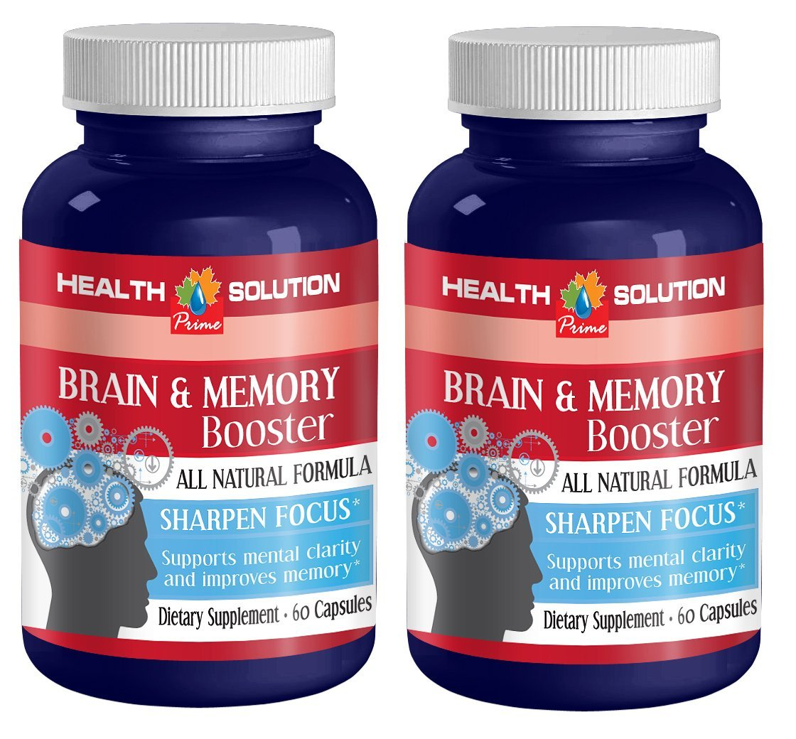 Glutamine capsules - BRAIN AND MEMORY BOOSTER - support brain cell communication (2 bottles) by Health Solution Prime