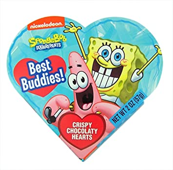 Amazon Com Nickelodeon Spongebob Squarepants Valentines Day Heart
