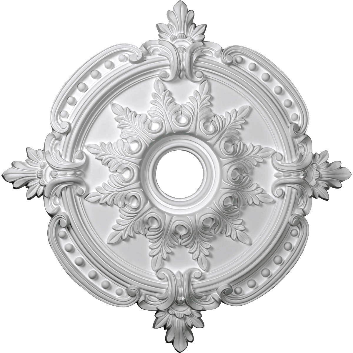 Ekena Millwork CM28BE 28 3/8-Inch OD x 4 1/2-Inch ID x 1 5/8-Inch P Benson Classic Ceiling Medallion
