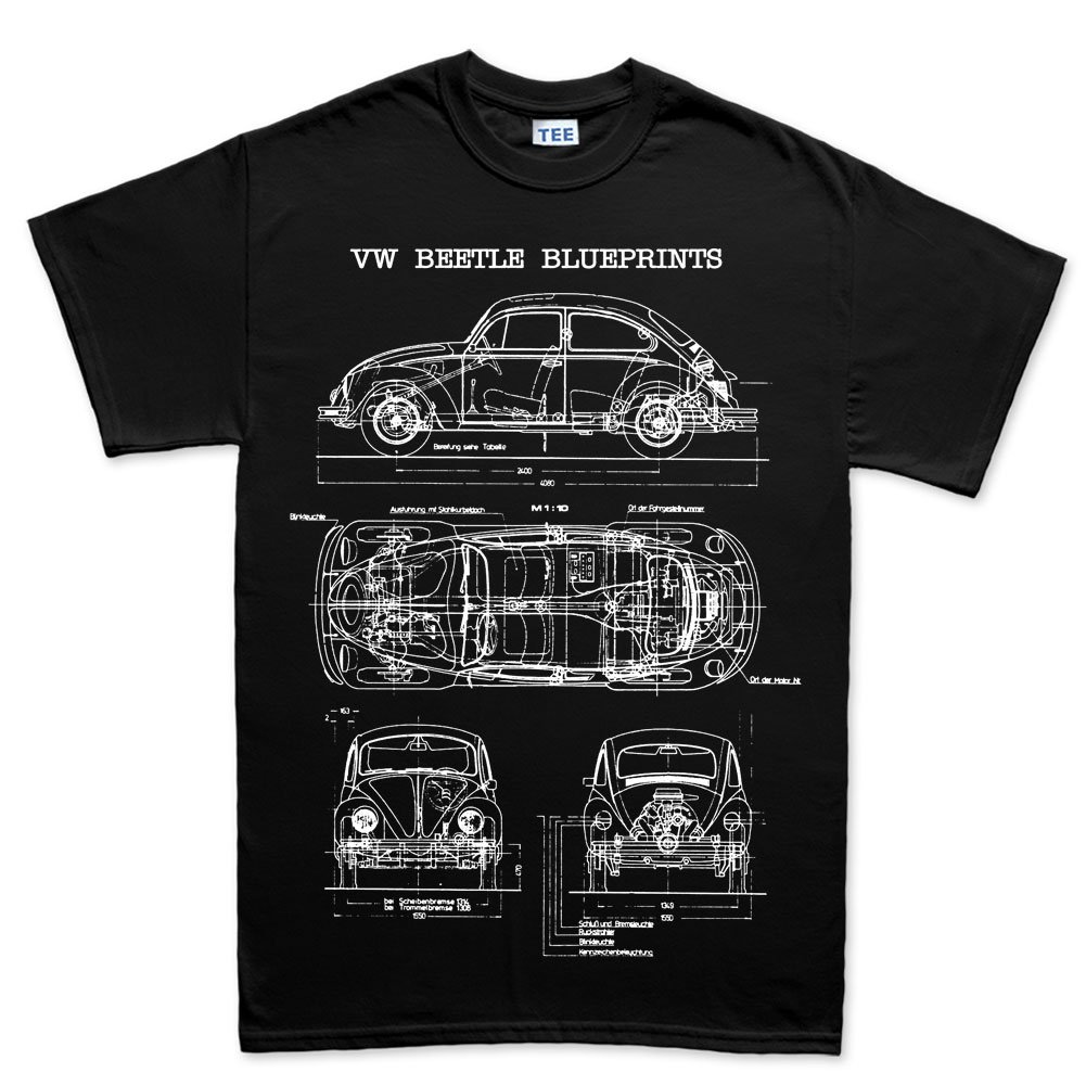 Beetle bug camper classic blueprint t shirt amazon books malvernweather Image collections