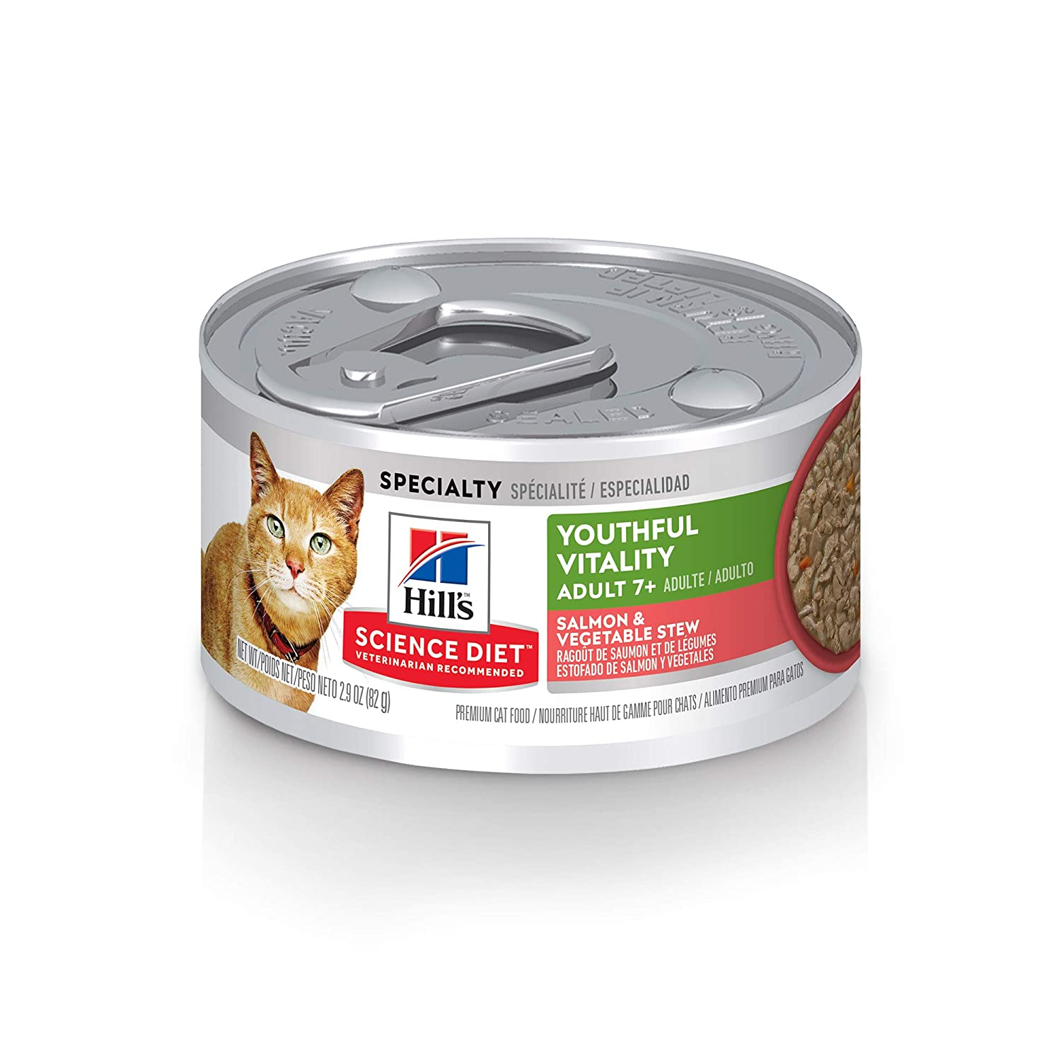 Hills Science Diet Wet Cat Food, Adult 7+ for Senior Cats, Youthful Vitality, Pack of 24