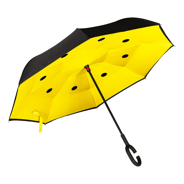 1e39ca6e6e Paraguas Inverso Antigoteo para Coche. Abre y Cierra al Revés. Paraguas  Original de Mujer y Hombre, Grande, Antiviento, de Calidad. Asa forma de C  o Recto.