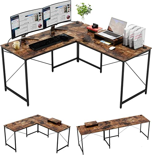 Bestier Industrial L-Shaped Gaming Desk