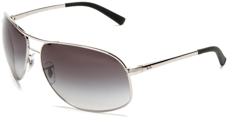2542cd573e406 Ray Ban Rb3387 Matte Black Frame Grey   Green Lens Metal Sunglasses ...