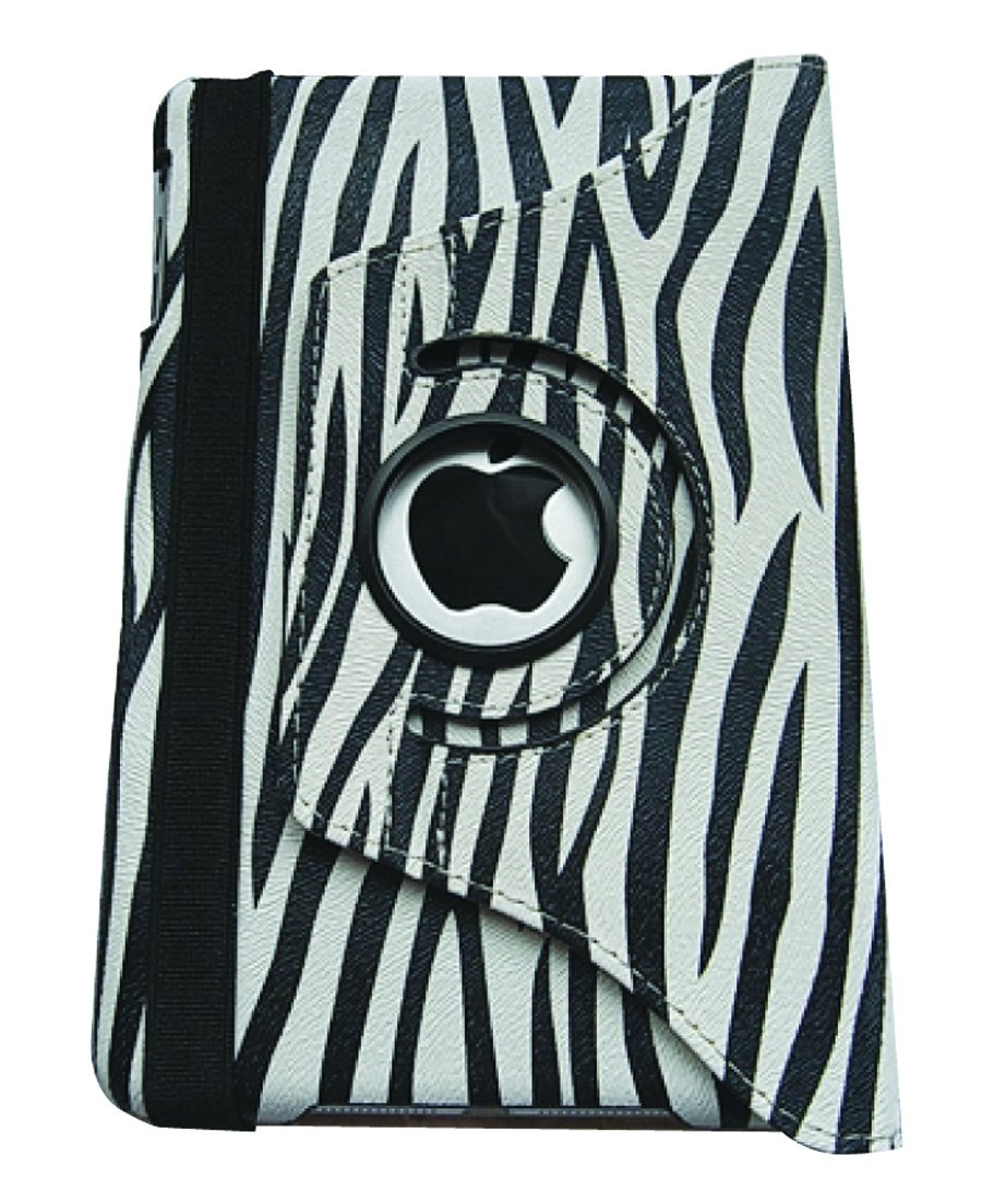 Sanis Enterprises 5.5 x 8 Inches Zebra 360 Rotating Cover for iPad mini (SCC09Z)