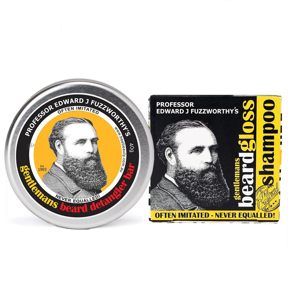 Professor Fuzzworthy's Beard Shampoo and Conditioner Set   100% Natural   Chemical Free   Organic Essential Plant Oils   Travel Friendly Beard Kit Handmade in Tasmania Australia