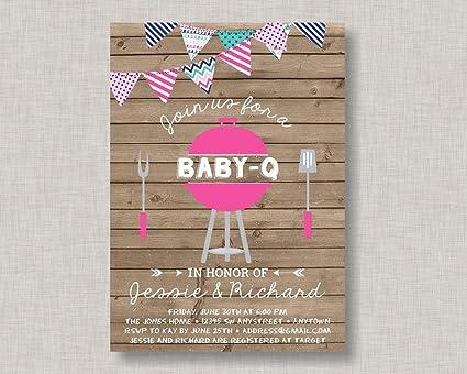 amazon com adonis554dan bbq baby shower invitation baby q