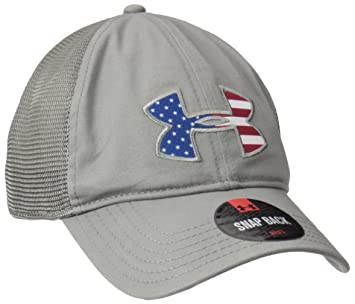 Amazon.com: Under Armour Mens Big Flag Logo Mesh Cap, Black (001)/White, One Size: Sports & Outdoors