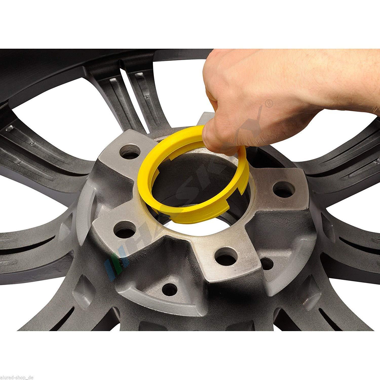 Wheelworld 4 Zentrierringe Aluminium eloxiert Alu 72,6-67,1 REIFEN GUNDLACH Tomason Keskin Tuning Advanti Oxigin Brock RC Motec