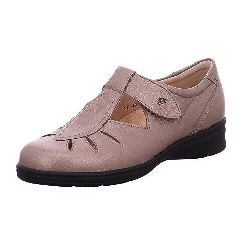 FINNCOMFORT Pistoia - Mocasines de Piel para mujer Beige Fango: Amazon.es: Zapatos y complementos