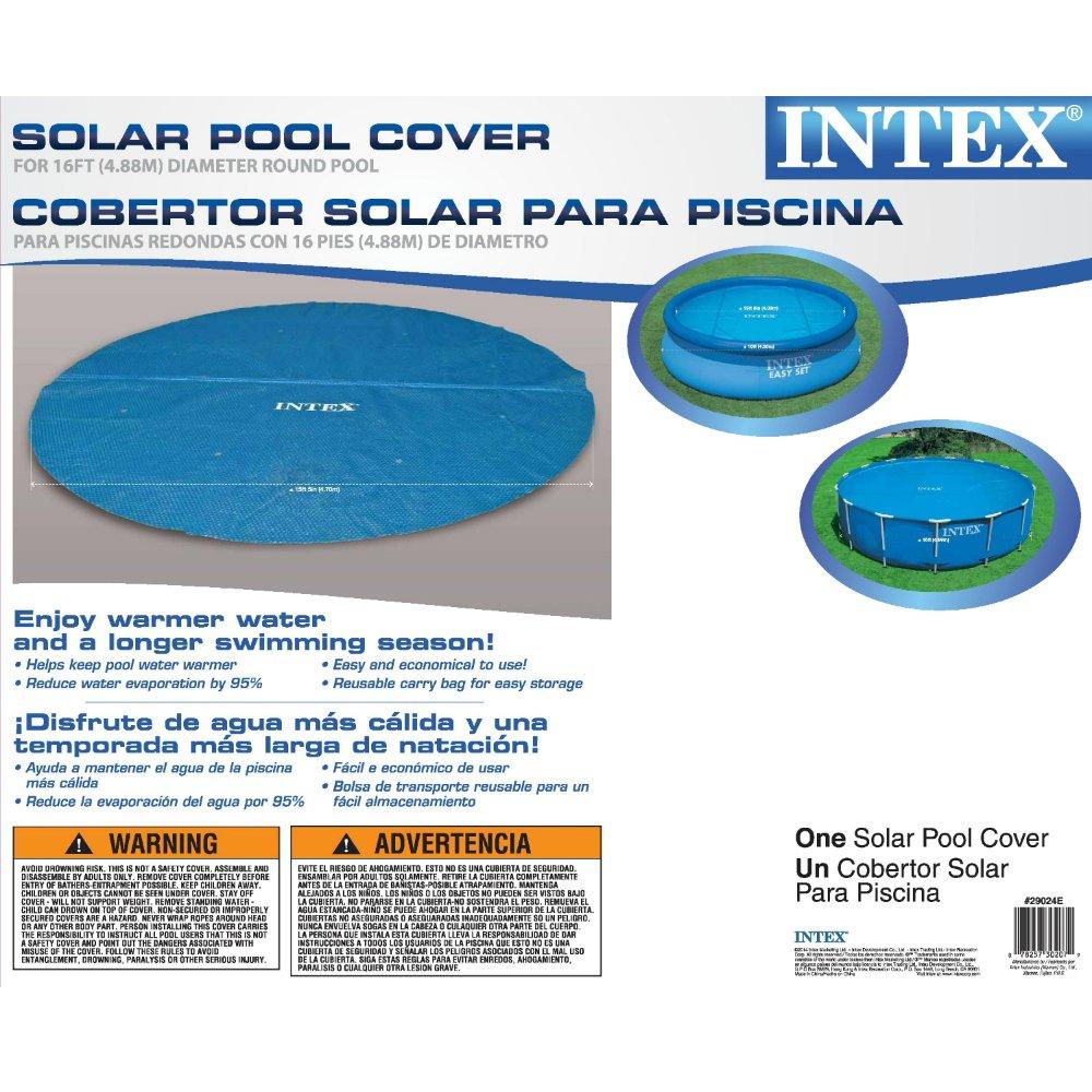 Amazon.com : Intex Solar Cover for 16ft Diameter Easy Set and Frame ...