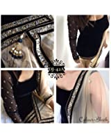 Fkart Festival Mega Sale Offer black Embroidered semi stitched salwar with dupatta