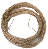 Rustic 100 Meter Natural Textured Hessian Jute Twine String 1mm 1-Ply for Shabby Chic Wedding Card ,Gift Wrapping Decoration,Price Tag, DIY Craft Scrapbooking, Floristry