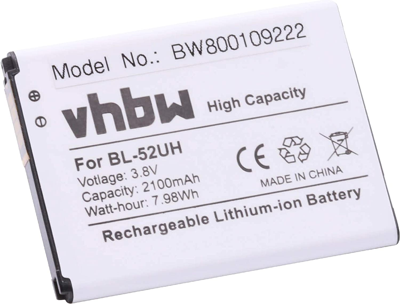 vhbw Li-Ion batería 2100mAh (3.8V) para Smartphone, teléfono móvil, teléfono Celular LG D280N, D320, D325, D329, H440N, L Fino por BL-52UH.: Amazon.es: Electrónica