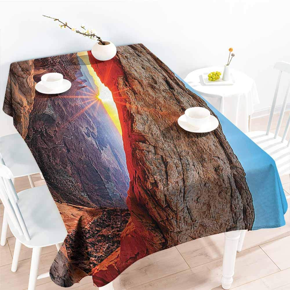 Homrkey Wrinkle Resistant Tablecloth Room Decorations Famous Sunrise at Mesa Arch in Canyonlands National Park Utah Picnic W40 xL60 by Homrkey
