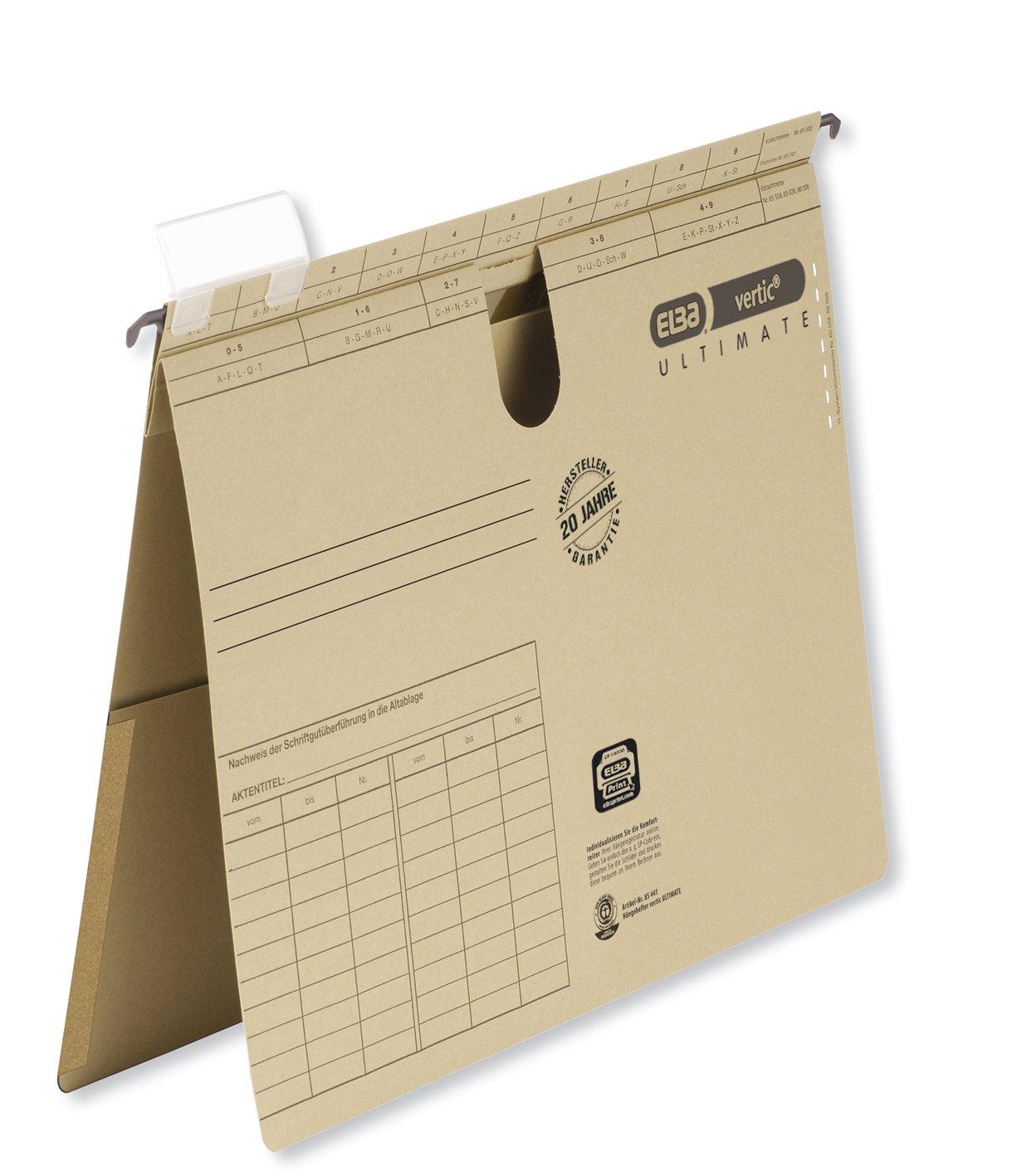 Elba 400051507 coleccionistas bisagras Vertic, RC-Hartpappe para DIN A4-Sábanas, 1,6 mm, Negro: Amazon.es: Oficina y papelería