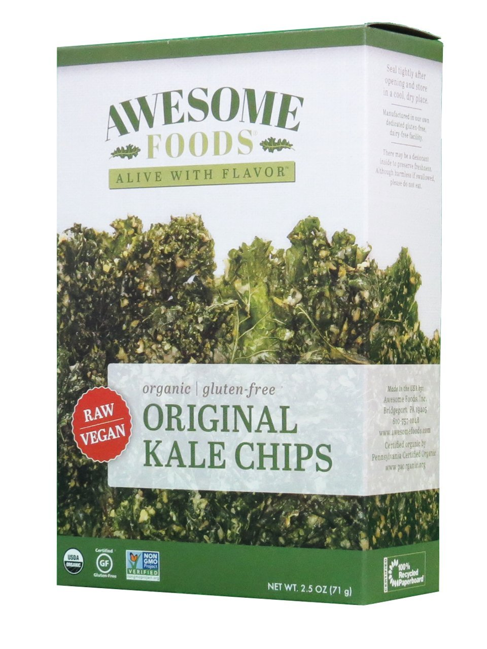 Original Kale Chips, 4 Pack by Awesome Foods