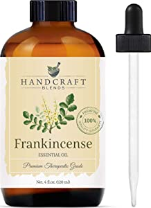 Handcraft Frankincense Essential Oil - 100 Percent Pure and Natural - Premium Therapeutic Grade with Premium Glass Dropper - Huge 4 oz